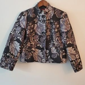 Tapemeasure embroidered jacket black gray 10